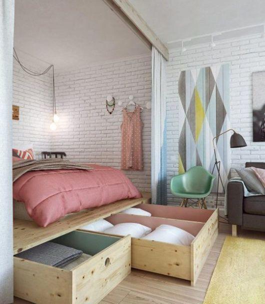 camas de madeira com gavetas