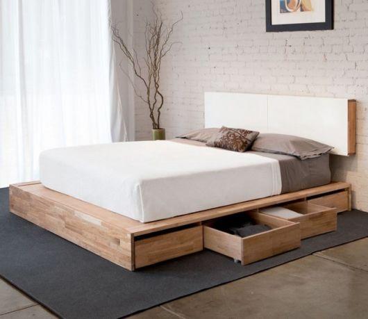 camas de madeira com gaveteiro