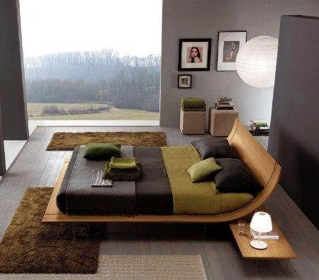 camas de madeira estilo moderno