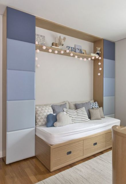 camas de madeira gavetas bebês