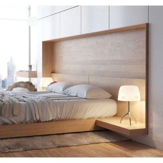 camas de madeira moderna minimalismo