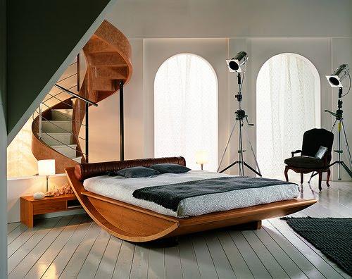 camas de madeira moderna