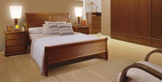 camas de madeira modernas e clean