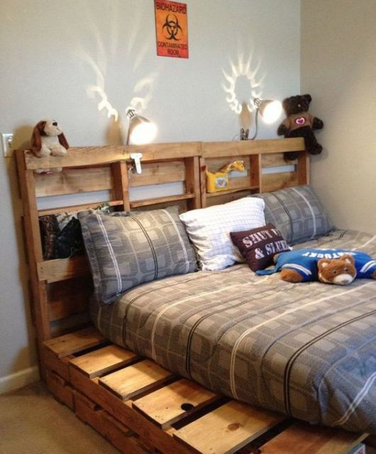 camas de madeira pallet
