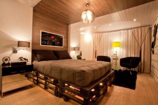 camas de madeira pallet de casal