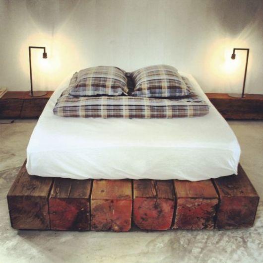 camas de madeira troncos