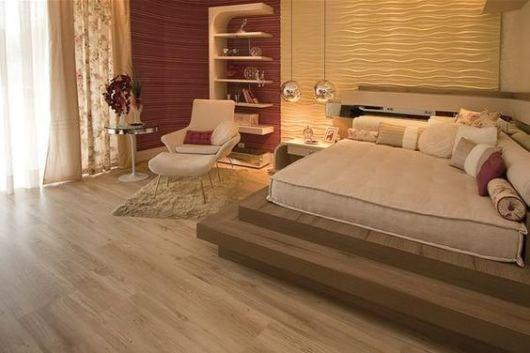 piso flutuante quarto
