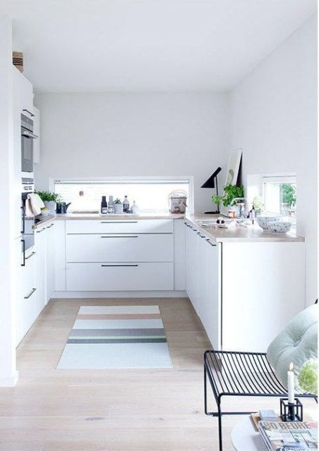 cozinha pequena branca