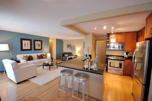 sala integrada cozinha