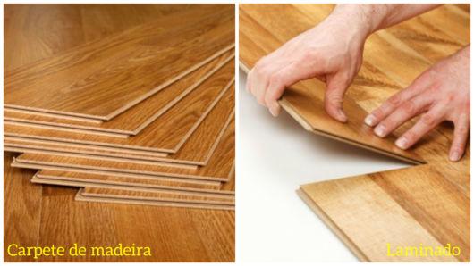 piso laminado e carpete