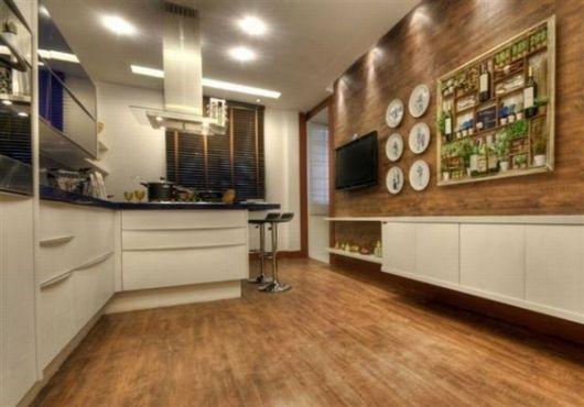 piso de madeira parede