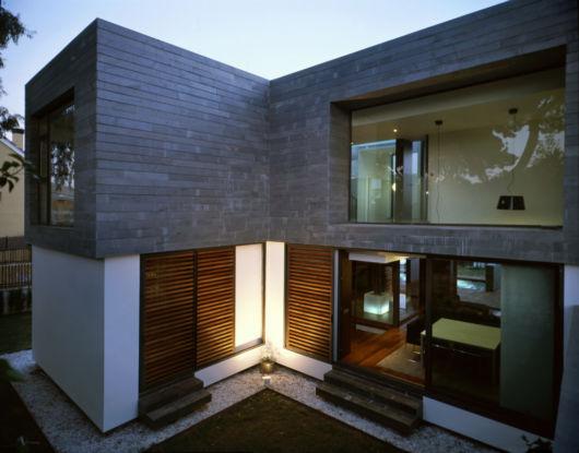 casa moderna e quadrada