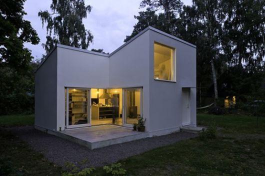 casa pequena simples quadrada
