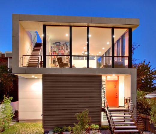 casa quadrada de vidro dois andares