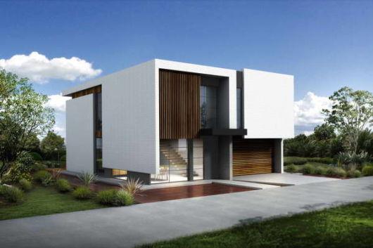 casa quadrada e moderna