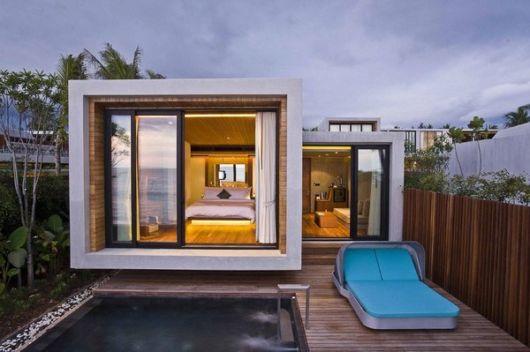 casa quadrada vidro