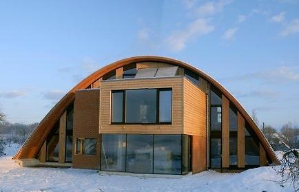 casa sustentável ecológica na neve