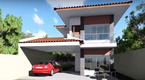 fachada com garagem