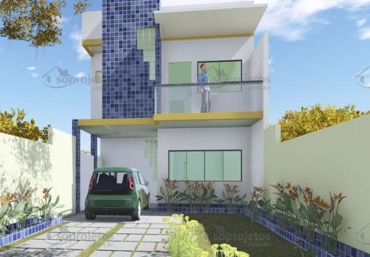 projeto fachada simples