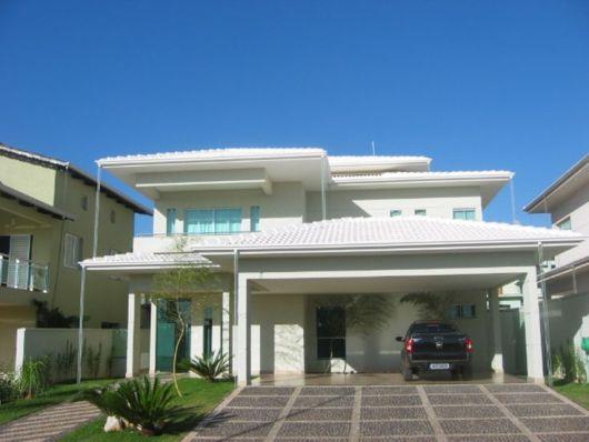 fachada moderna com garagem 2 carros