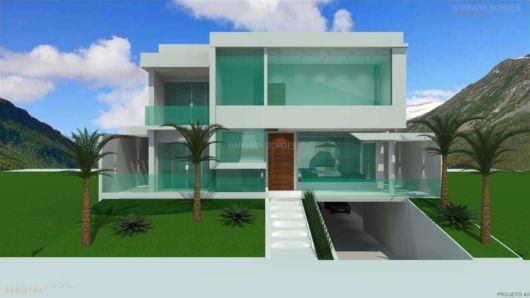 projeto fachada de vidro