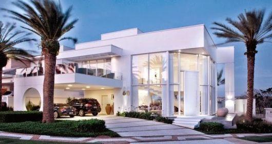 casa moderna com vidro