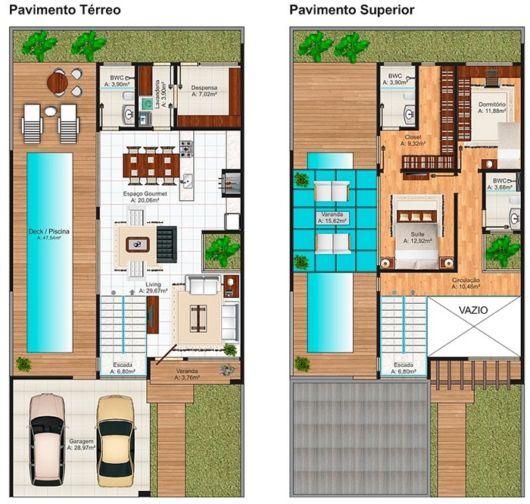 sobrado 2 dormitórios e piscina