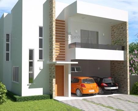 fachada moderna com garagem