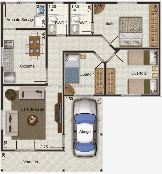 3 quartos e garagem