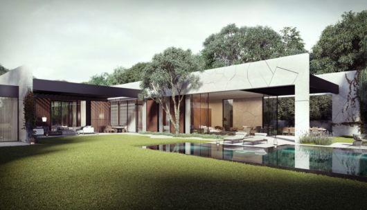 casa com piscina moderna