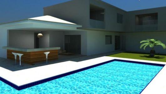 casa com piscina externa