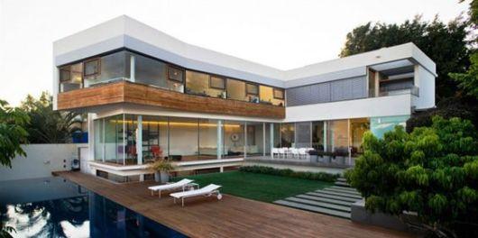 Casas em l plantas projetos e fotos incr veis - Fotos de casas en forma de l ...