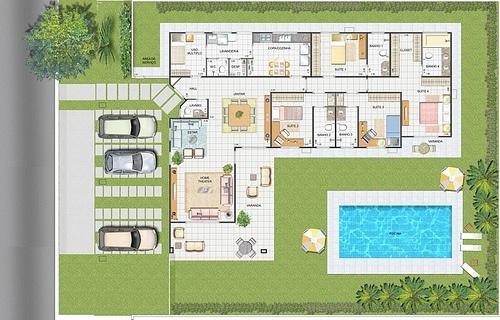 casa com piscina planta baixa