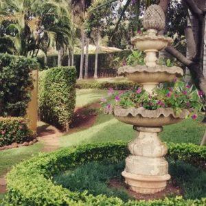 decoração de jardim com chafariz para jardim