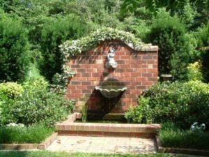 chafariz para jardim em área externa
