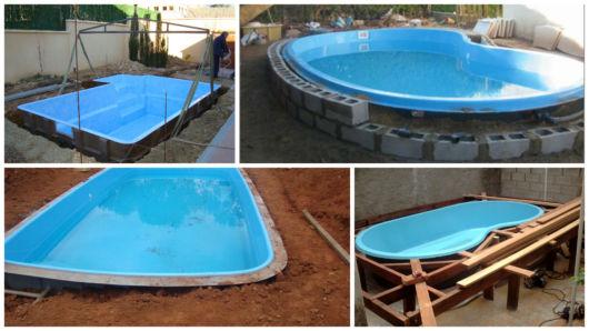 instalação piscina fibra