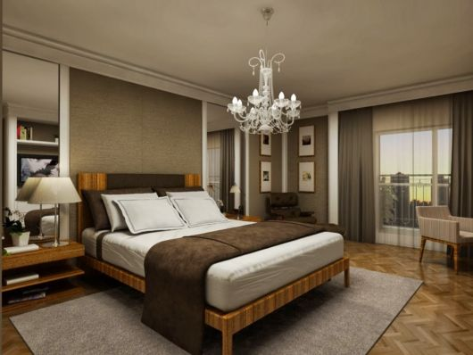como decorar um quarto de casal grande provençal