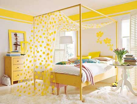 como decorar um quarto feminino tons vivos