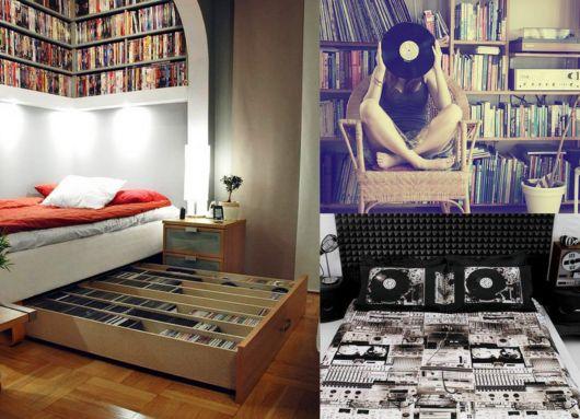 como decorar um quarto masculino cd e dvd
