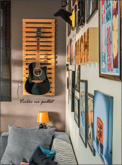 como decorar um quarto masculino violão