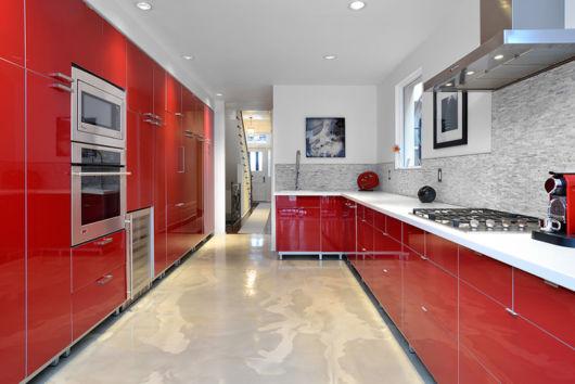 cozinhas-de-luxo-cor-vermelha