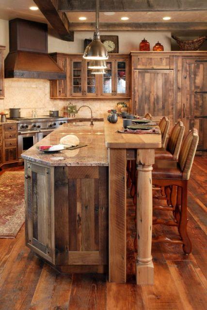 cozinhas-de-luxo-de-madeira-rustica