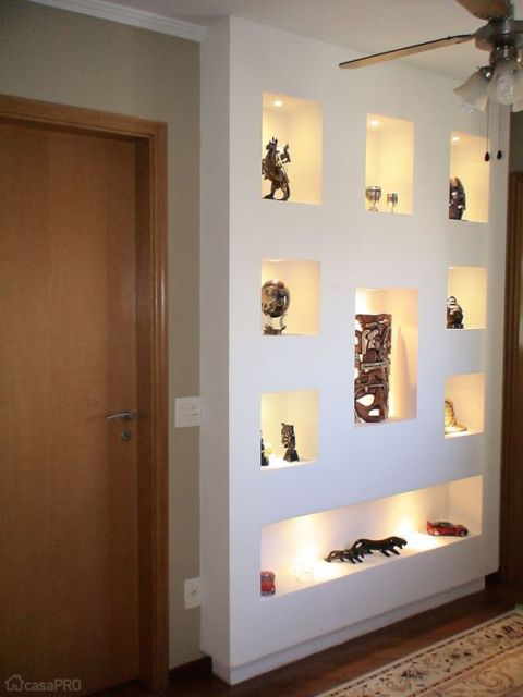 nichos com luzes