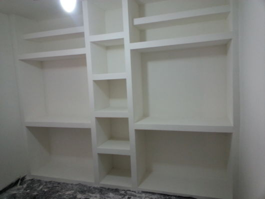 armário de gesso acartonado