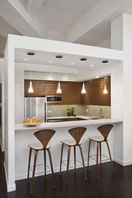 cozinha de parede de gesso