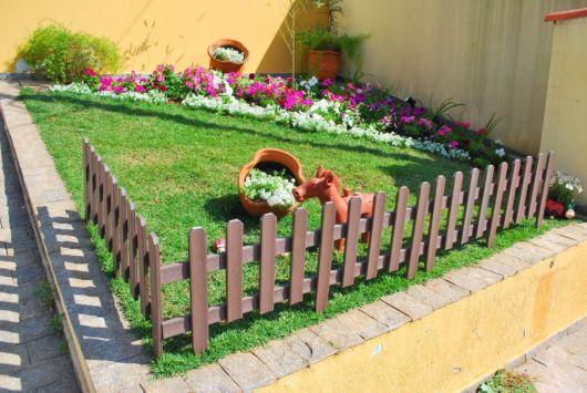 jardim com cercado