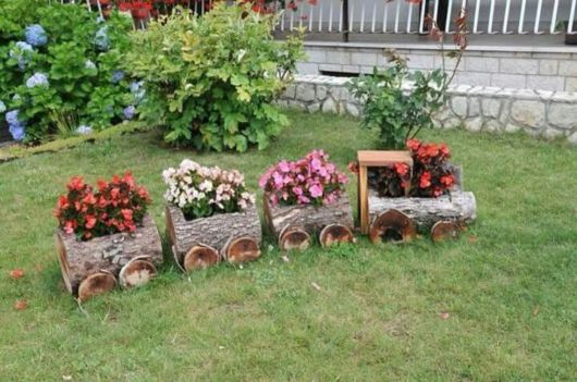 enfeites rusticos para jardim:Enfeites para jardim: 58 ideias para jardim interno e externo!