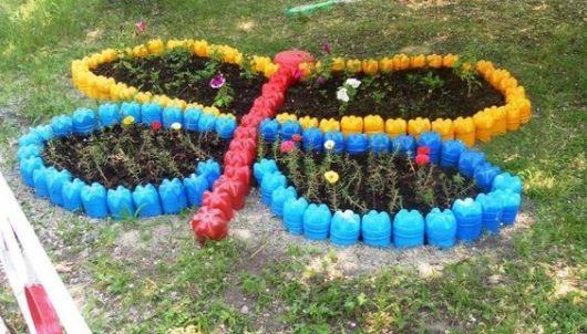 Поделки для сада из пластик