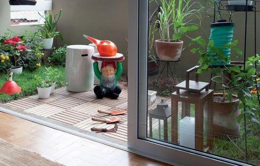 jardim pequeno decorado