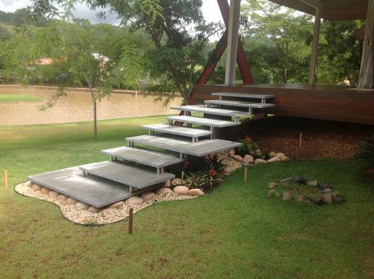 escadas externas jardim : escadas externas jardim:Escada Externa: Veja modelos mais recomendados e 49 fotos